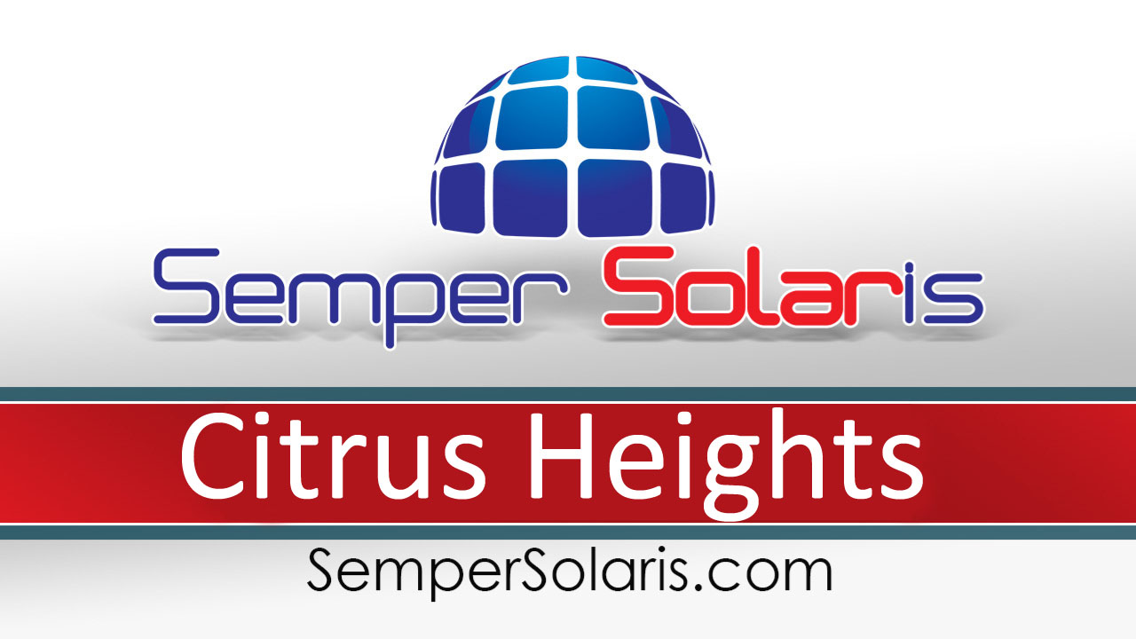 Local  Solar Power Company Citrus Heights