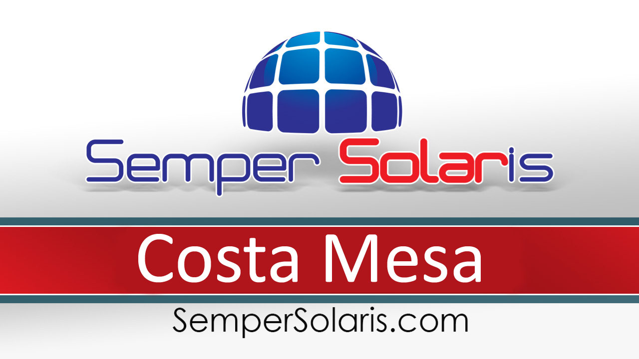 Local  Solar Power Companies Costa Mesa